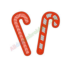 Candy Cane Applique Design Candy Cane Applique