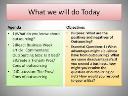 Ppt Outsourcing Pros And Cons Powerpoint Presentation