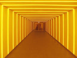 hallway vanishing point. neon signs vanishing point light installation art op lighting design hallways photo composition hallway i