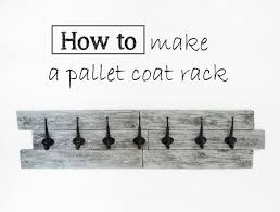 Make A Coat Rack Learn to make a coat rack out of pallets Tutorial in English and 66