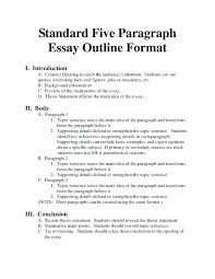 Example Of An Example Essay Informal Essays Examples Essay Lay Out