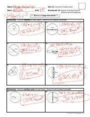 You can also download the free pdf of ex 13.1 class 10 surface areas and volumes ncert solutions or save the solution images and take the print out to keep it handy for your exam preparation. Michael Masterson Unit 11 Homework 10 Volume And Surface Area Of Spheres And Hemispheres Pdf Course Hero
