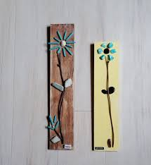 home decor rock art wall hanging set of 2 pebble wall hanging yellow turquoise twig floral design happy inspirational decoration gift by amorebride on etsy on rock art wall hanging with orange home decor rock art wall hanging set of 2 pebble wall hanging
