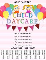 Free Printable Daycare Flyers 700 Child Care Customizable Design Templates Postermywall