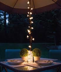 outdoor terrace lighting. Outdoor Terrace Lighting. Backyard Patio Dining Umbrella Lights And Mason Jar Centerpiece Lighting T