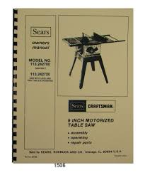 craftsman 10 inch table saw model 113 manual craftsman 113 table saw manual craftsman 10 table