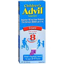 Advil Ibuprofen Oral Suspension 100 Mg Grape 4 Fl Oz 120 Ml