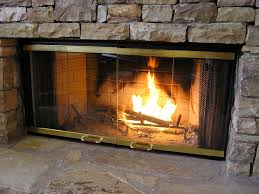 fireplace with glass doors. amazon.com: heatilator fireplace doors - black 42\ with glass