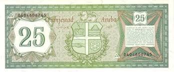 Кухня, транспорт и многое другое. Aruba 25 Florin Foreign Currency