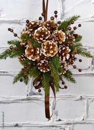 Pine Cone Christmas Decorations Diy Kissing Ball With Pine Cones Crafts Unleashed