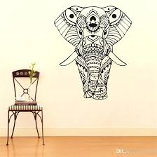 elephant decals elephant wall decals wall stickers mandala yoga ornament decals home decoration elephant wall elephant decals stacked elephants wall