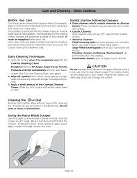 care and cleaning glass cooktop bosch hes255u user manual page 26 36