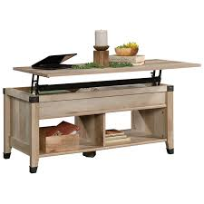 sauder carson forge lift top wood and