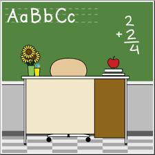 teacher desk clipart. Modren Teacher Clip Art Teacheru0027s Desk Color I Abcteachcom  Preview 1 For Teacher Clipart I