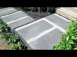 how to make exposed aggregate pavers