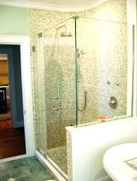 half shower door wall height bathroom with two walls twin bay handles