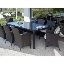 outdoor rectangular brown wicker dining