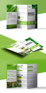 Brochure Trifold Template Free Nature Tri Fold Brochure Template Free Psd Psdfreebies Com
