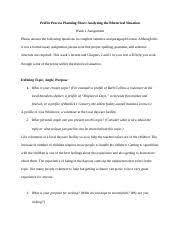 week profile essay the profile essay the profile essay the 4 pages week1 profile process planning sheet