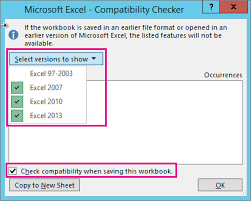 Worksheet Compatibility Issues Excel