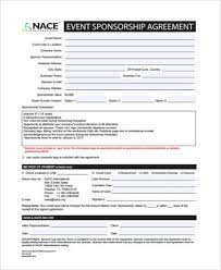 sponsorship agreement sample sponsorship agreement forms 8 free documents in pdf