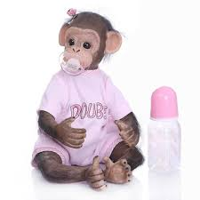 """<b>16</b>""""/<b>40cm</b> Realistic Reborn <b>Baby</b> Monkey Girl Dolls Soft Silicone ..."""