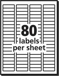 Avery 48267 Ecofriendly White Inkjet Laser Return Address Labels 1