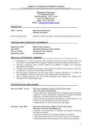 Graduate Pharmacist Resume Example Sample Retail Pharmacy Cv