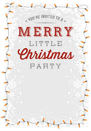Printable Holiday Party Invitations A Merry Little Party Free Printable Christmas Invitation Template