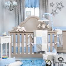 Newborn Bedroom Furniture Details About Baby Boy Blue Grey Star Designer Quilt Luxury Crib