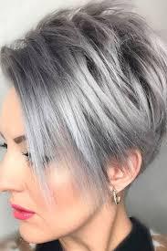 Coiffure Femme Cheveux Gris