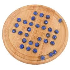 Wooden Game With Marbles Bigjigs Toys Classic Wooden Solitaire Game with Marbles Amazonco 2