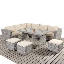 garden village uk port royal luxe rustic table corner sofa