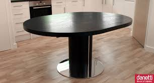 interesting furniture for dining room decoration using round pedestal black wood dining table contemporary modern