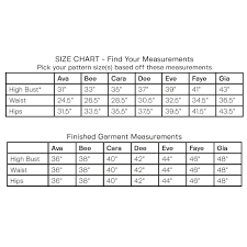 Blouse Size Chart Evelyn Blouse Size Chart