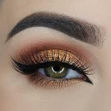 summery bronze makeup look here you go green eye