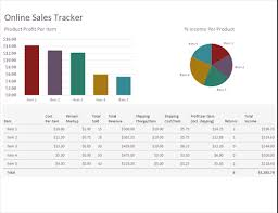 Ticket Sales Spreadsheet Template Online Sales Tracker