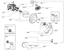 moen single handle shower faucet with moen t3132 parts list and diagram