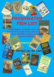 Pdf Freshwater Fish List 17th Edition 2016