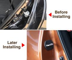 4 pcs car door lock cover door striker fit for nissan versa sunny sylphy livina qashqai teana march tiida x trail murano in car stickers from automobiles