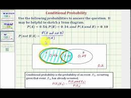 A Not B Venn Diagram Ex 3 Determine A Conditional Probability Using A Venn