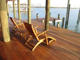 comfortable lounge chairs with cozy dark hardwood floor for enchanting ipe decking