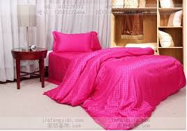 luxury hot pink plaid silk bedding sets queen king size double duvet cover bedspreads bed in a bag sheets bedroom quilt linen in bedding sets from home