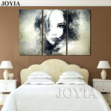 wall decor paintings wall decor canvas painting watercolor black and white art woman face abstract print set bedroom decoration wall decor paintings