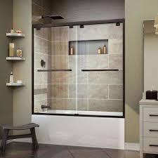 framed bypass tub door