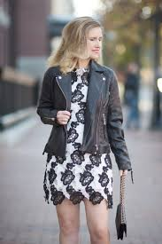 petite fashion and style blog chicwish timeless delicacy crochet dress top leather biker jacket