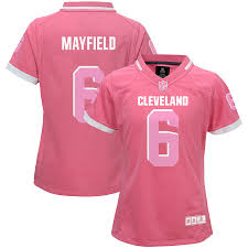 Gum Browns Mayfield Cleveland Girls Baker - Youth Bubble Jersey Pink