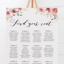 Minimal Wedding Seating Chart Hand Calligraphy Font