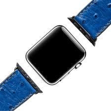 apple watch band ostrich royal blue black