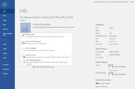 Word Ribbon The Review Ribbon In Microsoft Office Word 2016 Qwerty
